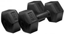 "Iron Gym Fixed Hex Dumbbell Hantel, 2x 6kg (""Non-Roll"" Design)"